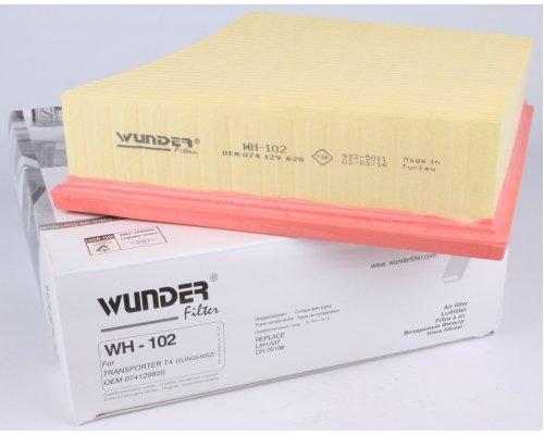 Фильтр воздушный  VW Transporter T4 1.9TD / 2.4D / 2.5TDI 96-03 WH-102 WUNDER (Турция)