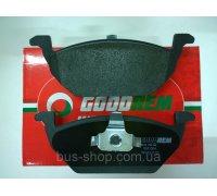 Тормозные колодки передние без датчика (ушки вверх) VW Caddy III 04- RM1084 GOODREM (Венгрия)