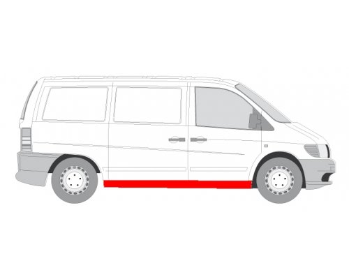 Ремонтная часть порог правый MB Vito 638 1996-2003 6505-06-3541002PP BLIC (Польша)