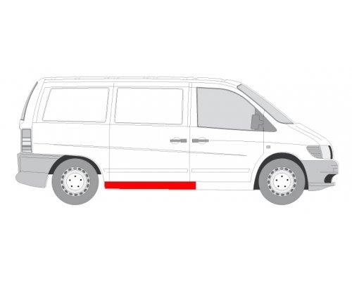 Ремонтная часть порог сдвижной двери MB Vito 638 1996-2003 6505-06-3541004P BLIC (Польша)
