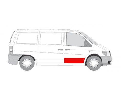 Ремонтная часть передней двери правой (24см) MB Vito 638 1996-2003 6015-00-3541126P BLIC (Польша)