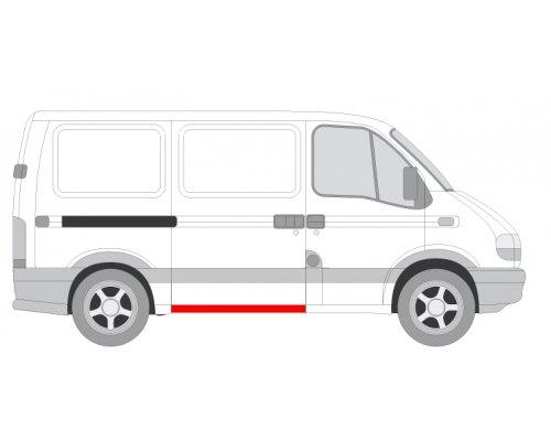 Ремонтная часть порога сдвижной двери (высота 24см) Renault Master II / Opel Movano 1998-2010 6505-06-5088002P BLIC (Польша)