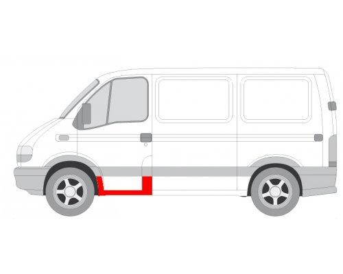 Ремонтная часть порога передней левой двери Renault Master II / Opel Movano 1998-2010 6505-06-5088041P BLIC (Польша)