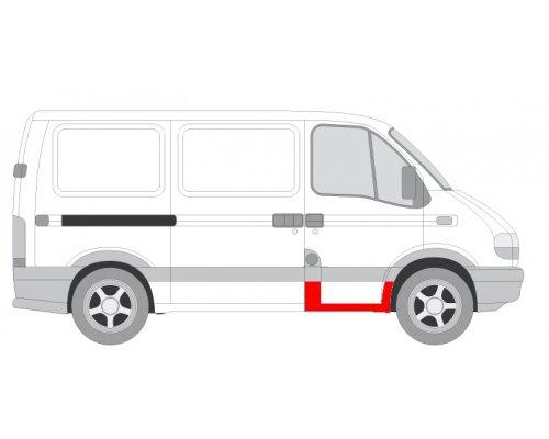 Ремонтная часть порога передней правой двери Renault Master II / Opel Movano 1998-2010 6505-06-5088042P BLIC (Польша)
