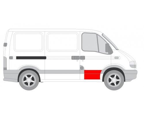 Ремонтная часть передней двери правой (длина 35см) Renault Master II / Opel Movano 1998-2010 FP5088122 FPS (Тайвань)