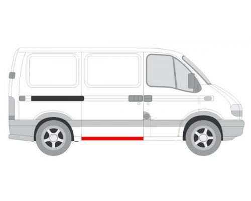 Ремонтная часть порога сдвижной двери (высота 12см) Renault Master II / Opel Movano 1998-2010 6505-06-5088003P BLIC (Польша)