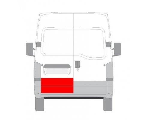 Ремонтная часть задней двери левой (длина 35см) Renault Master II / Opel Movano 1998-2010 FP6065153 FPS (Тайвань)
