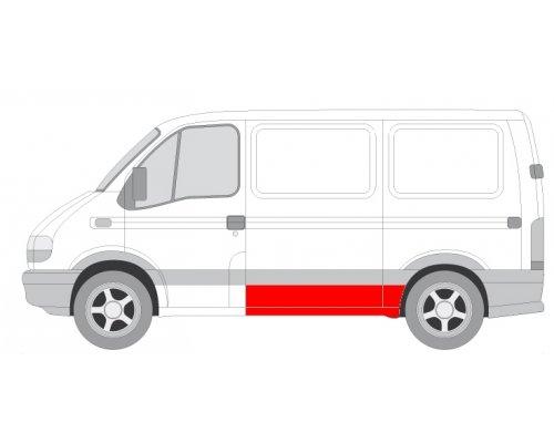 Ремонтная часть левой стороны (короткая база, длина 165см) Renault Master II / Opel Movano 1998-2010 6504-03-5088581P BLIC (Польша)