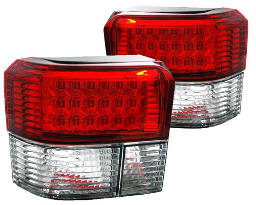 Фонарь задний (комплект, белый поворот, LED) VW Transporter T4 90-03 FP9558F40E FPS (Тайвань)