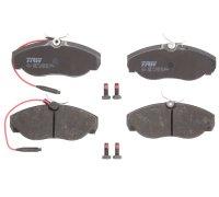 Тормозные колодки передние (с датчиком, R15) Fiat Ducato / Citroen Jumper / Peugeot Boxer 1994-2002 GDB1105 TRW (Германия)