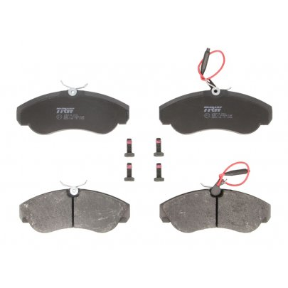 Тормозные колодки передние (с датчиком, R16) Fiat Ducato / Citroen Jumper / Peugeot Boxer 1994-2002 GDB1106 TRW (Германия)