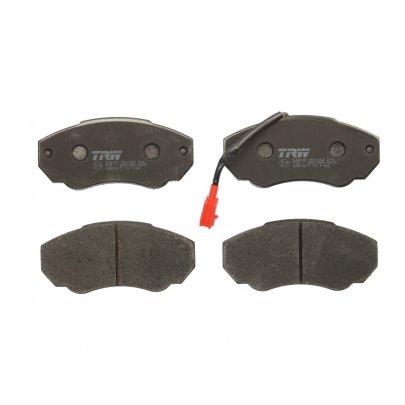 Тормозные колодки передние (с датчиком, R15) Fiat Ducato / Citroen Jumper / Peugeot Boxer 1994-2006 GDB1517 TRW (Германия)
