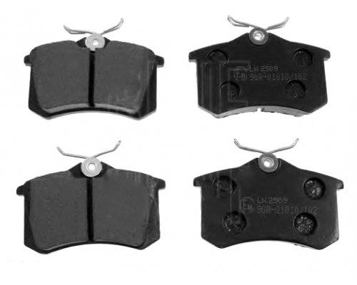 Тормозные колодки задние (LUCAS) Fiat Scudo / Citroen Jumpy / Peugeot Expert 1995-2006 INTD481E INTELLI (Украина)