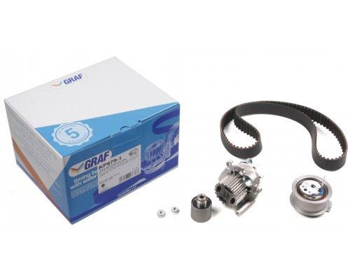 Комплект ГРМ + помпа VW Caddy ІІІ 1.9TDI / 2.0SDI 04-10 KP879-1 GRAF (Италия)