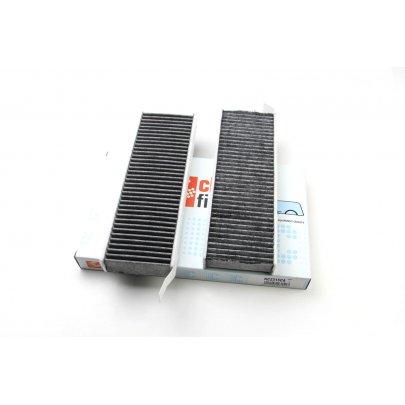 Фильтр салона (угольный, к-кт 2шт, 294х96х30) Peugeot Partner 1.6HDi 68kW 2009-2011 NC2315CA CLEAN FILTERS (Италия)