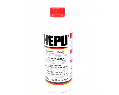 Антифриз концентрат G12 (красный, 1.5л) P999-G12 HEPU (Германия)