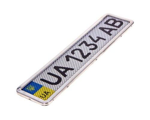 Рамка номерного знака нержавейка (с сеткой) PHC-55055 ELIT (Чехия)