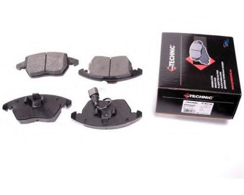 Тормозные колодки передние с датчиком (ушки вниз) VW Caddy III 04- PRP0483 PROTECHNIC (Польша)