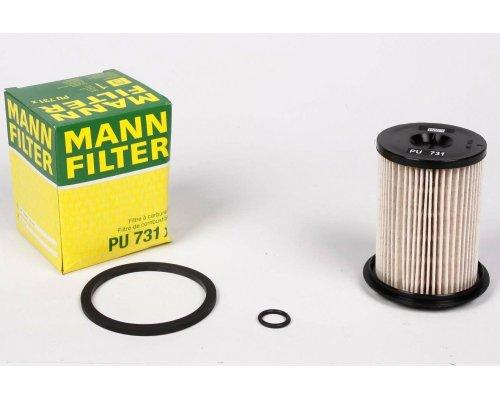 Фильтр топливный (высота 96мм, Delphi) Renault Trafic II / Opel Vivaro A 1.9dCi 01-14 PU731X MANN (Германия)