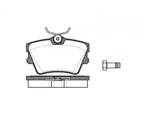 Тормозные колодки задние (без датчика) VW Transporter T4 90-03 RD.3323.DB1325 RIDER (Венгрия)