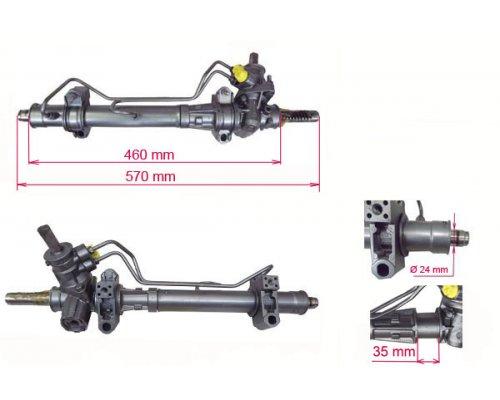 Рулевая рейка с гидроусилителем (восстановленная) Renault Kangoo / Nissan Kubistar 03-08 RE230R MSG (Италия)