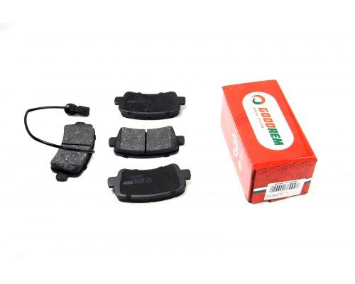 Тормозные колодки задние (без сдвоенного колеса, с датчиком) Renault Master III / Opel Movano B 2010- RM1035 GOODREM (Венгрия)