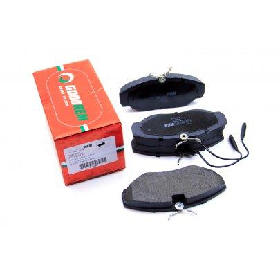 Тормозные колодки передние (с датчиком, R15) Fiat Ducato / Citroen Jumper / Peugeot Boxer 1994-2002 RM1097 GOODREM (Венгрия)
