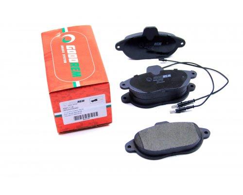 Тормозные колодки передние (BENDIX, с датчиком) Fiat Scudo / Citroen Jumpy / Peugeot Expert 1995-2006 RM1118 GOODREM (Венгрия)