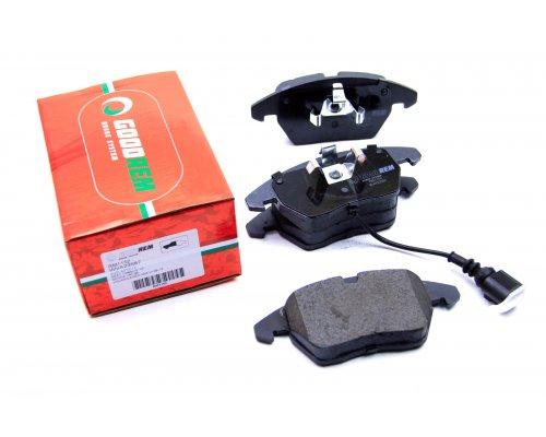 Тормозные колодки передние с датчиком (ушки вниз) VW Caddy III 04- RM1152 GOODREM (Венгрия)
