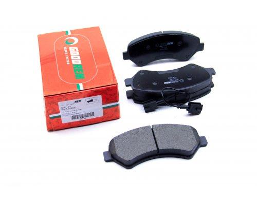 Тормозные колодки передние (с датчиком, нагрузка 1.7-2т, для повышенной нагрузки) Fiat Ducato II / Citroen Jumper II / Peugeot Boxer II 2006- RM1164 GOODREM (Венгрия)