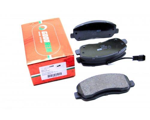 Тормозные колодки передние (с датчиком) Renault Master III / Opel Movano B 2010- RM1172 GOODREM (Венгрия)