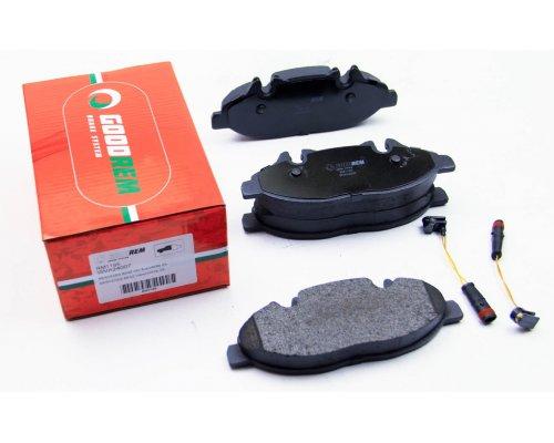 Тормозные колодки передние (с датчиком, система Bosch) MB Vito 639 2003- RM1195 GOODREM (Венгрия)