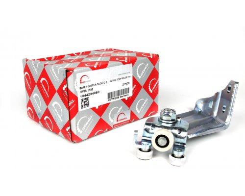 Ролик сдвижной двери верхний (с кронштейном) Fiat Ducato II / Citroen Jumper II / Peugeot Boxer II 2006- RWS1186 ROTWEISS (Турция)