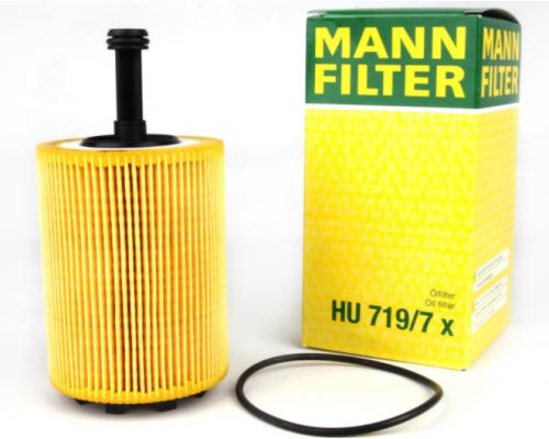 Фильтр масляный VW Caddy III 1.9TDI / 2.0SDI / 2.0TDI (103kW) 04-10 HU719/7X MANN  (Германия)
