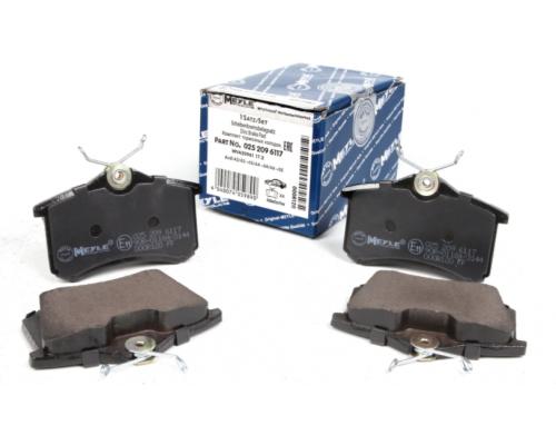 Тормозные колодки задние без датчика (105.3х55.9х17.1mm) VW Caddy III 04- 0252096117 MEYLE (Германия)