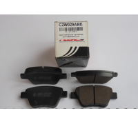 Тормозные колодки задние без датчика (109.3х53.4х17.7mm) VW Caddy III 04- C2W029ABE ABE (Польша)