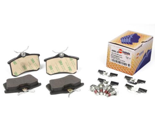 Тормозные колодки задние без датчика (87.6х52.9х17.6mm) VW Caddy III 07- 6980.20 AUTOTECHTEILE (Германия)