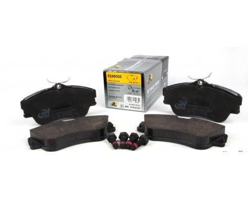 Тормозные колодки передние без датчика (R15, сплошной диск, 129.7x65.2x19mm) VW T4 90-03 2480.00 ROADHOUSE (Испания)