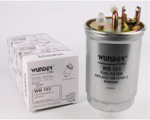 Топливный фильтр VW Transporter T4 1.9D / 1.9TD / 2.4D / 2.5TDI 90-03 WB-103 WUNDER (Турция)