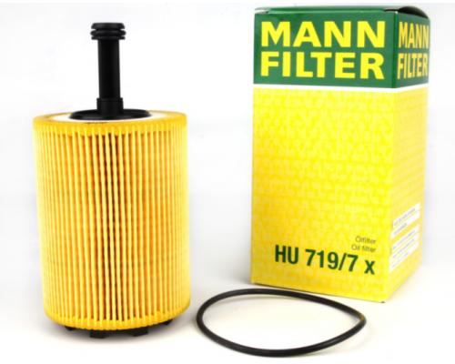 Масляный фильтр VW Transporter T5 1.9TDI / 2.5TDI 03-09 HU719/7X MANN (Германия)