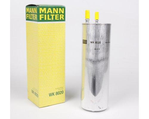 Топливный фильтр (2 выхода) VW Transporter T5 2.5TDI 03- WK8020 MANN (Германия)