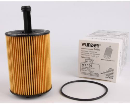 Масляный фильтр VW Transporter T5 1.9TDI / 2.5TDI 03-09 WY-106 WUNDER (Турция)