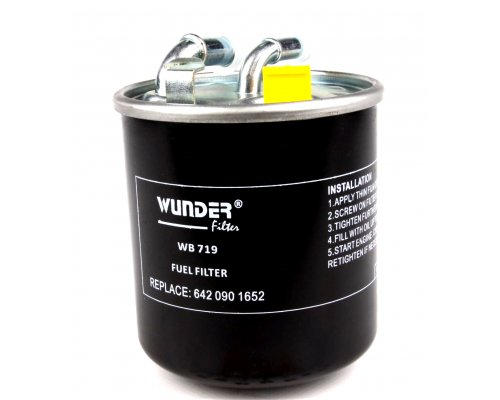 Топливный фильтр MB Vito 639 2.2CDI (под датчик, двигатель OM651) 2010- WB-719 WUNDER (Турция)