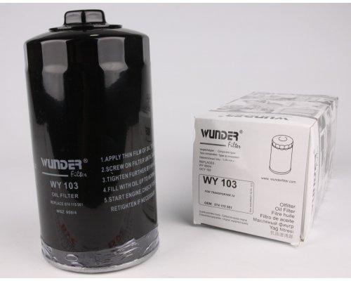 Фильтр масляный  VW Transporter T4 2.5 / 2.4D / 2.5TDI 90-03 WY-103 WUNDER (Турция)