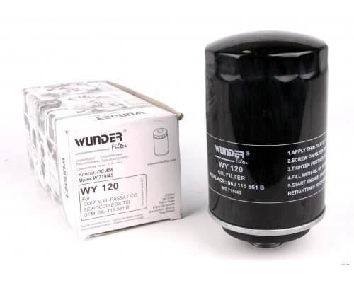 Фильтр масляный VW Transporter T6 2.0TSI 2015- WY120 WUNDER (Турция)
